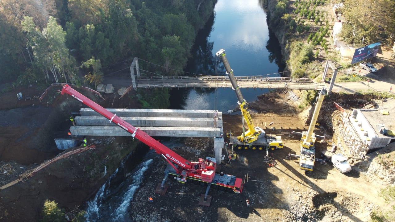 El Ministerio de Obras Públicas encomendó a APIA la construcción del puente en Villa Cautín